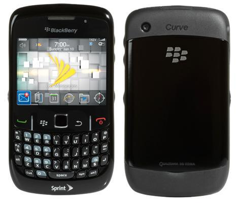 BlackBerry Curve 8530 front and side view