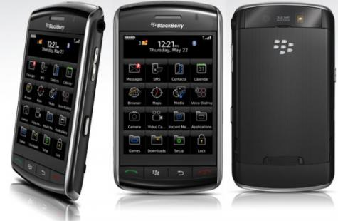 BlackBerry Storm 9500 front and side view