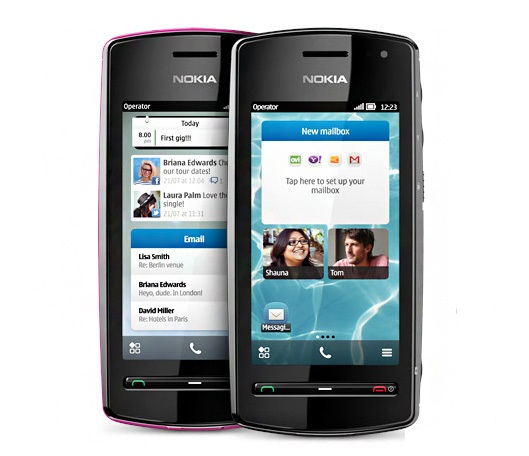 Nokia 600 front and side view