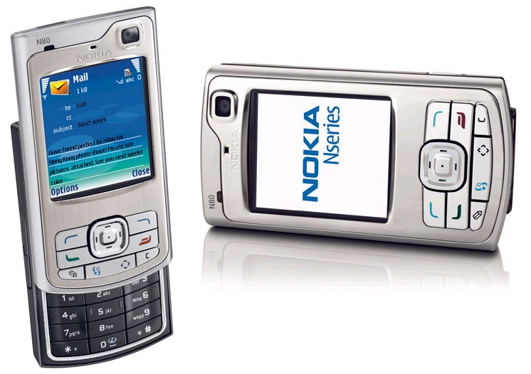 Nokia N80 front and side view